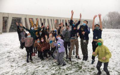 La neige est tombée à Manosque !